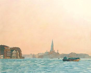 Dusk in Venice 14x20