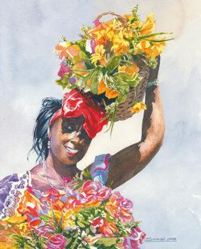 Flower Girl 20x16