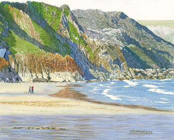 Porthcurno Bay / Cornwall 14 x 18