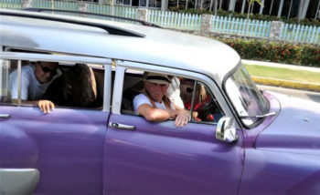 Taking a ride in Havana Taxi