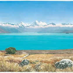 Towards Mt Cook from lake Pukaki
