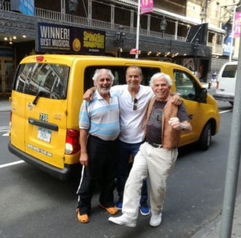 With Shlomo and Aron the Yellow cabbie