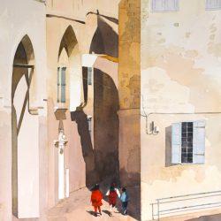 Crusader alleyway